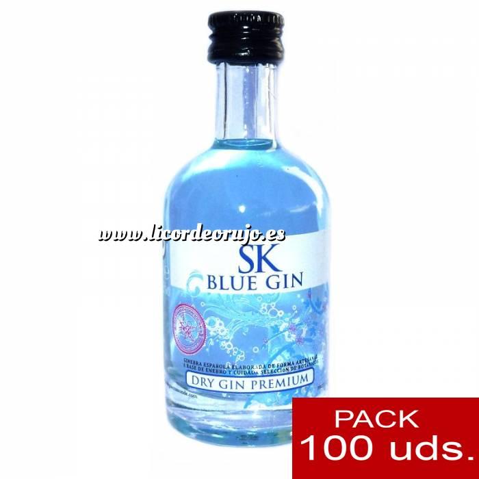Imagen 1 Ginebra Ginebra SK Blue Dry Gin 5cl CAJA DE 100 UDS
