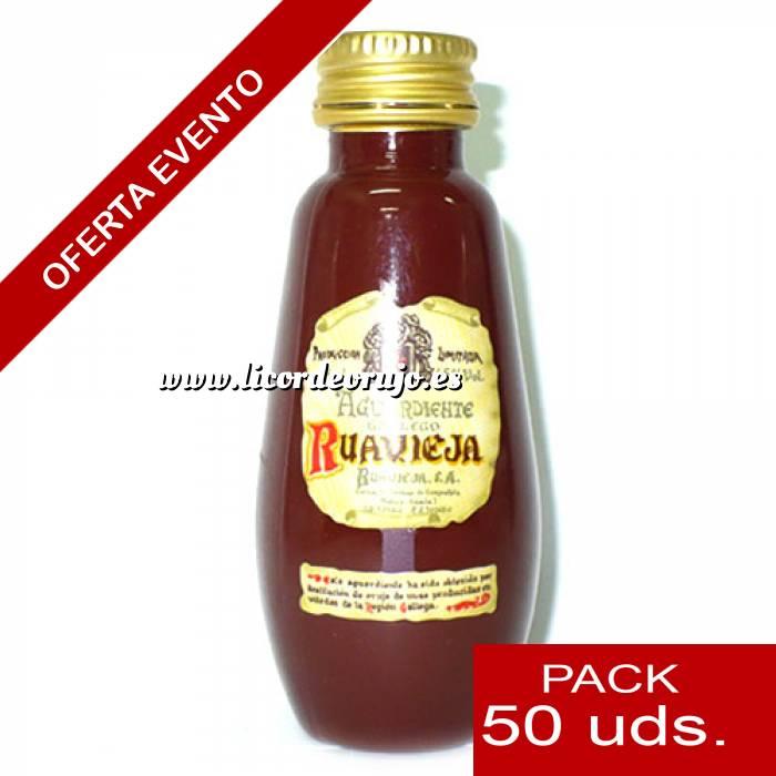 Imagen 2 Licores, orujos y crema Aguardiente de orujo Ruavieja 5cl CAJA DE 50 UDS