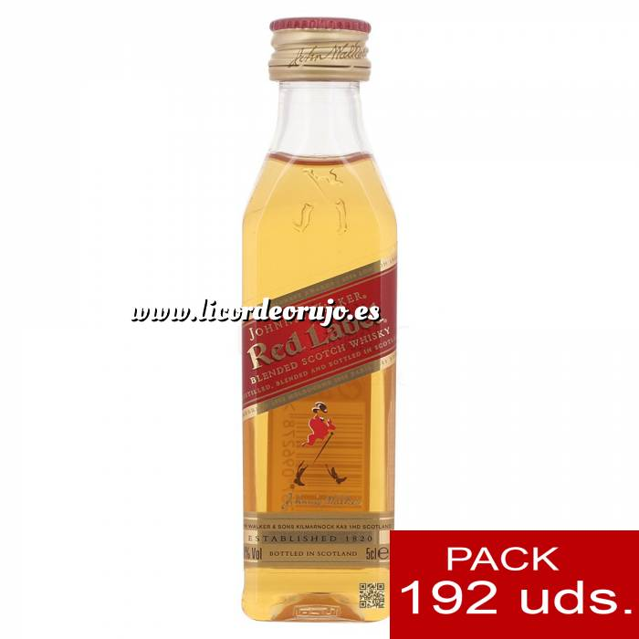 Imagen 6 Whisky Whisky Johnnie Walker Etiqueta Roja CAJA DE 192 UDS - SUPER OFERTA