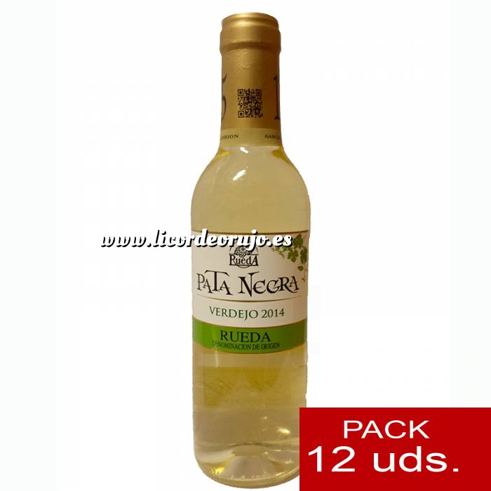 Imagen Vino Vino Pata Negra Rueda Blanco Verdejo 37.5 cl CAJA COMPLETA 12 UDS