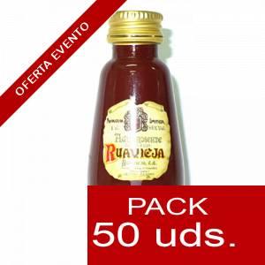 2 Licores, orujos y crema - Aguardiente de orujo Ruavieja 5cl CAJA DE 50 UDS