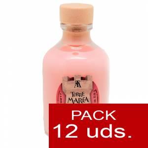2 Licores, orujos y crema - Crema de Fresas y Nata ROCÍO 50 (Torre María) - CAJA DE 12 UDS