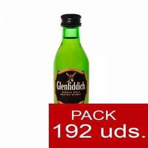 6 Whisky - Whisky Glenfiddich 12 años (sin tubo), 5CL . CAJA DE 192 UDS
