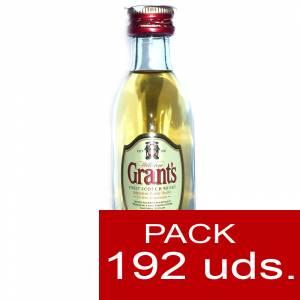 6 Whisky - Whisky Grants Escocés 5cl - CAJA DE 192 UDS